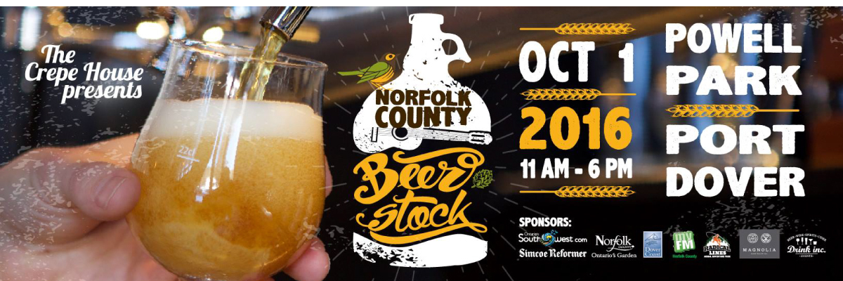 Norfolk County Beerstock SATURDAY OCTOBER 1ST, 2016 <h3>Powell Park (Port Dover)</h3>